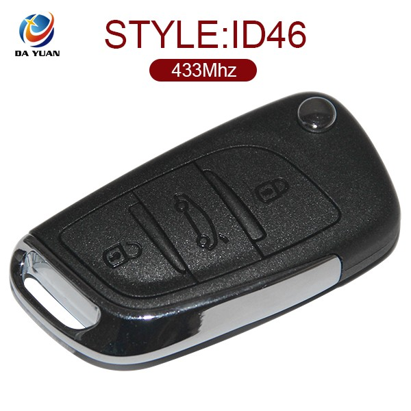 AK016015 3 Button Folding Remote Key For Citroen C5 DS3 433MHZ