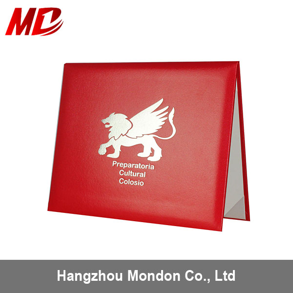In SALE-Graduation Diploma Cover certificate holder leather folder design