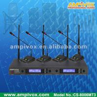 UHF PLL 4x32CHs Wireless Conference Microphone CS-8006MT3