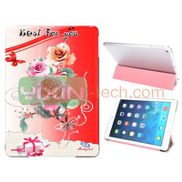 Sweet Rose for iPad Mini 2 PC+Leather Cover Case, 2 Retina for iPad Mini flip case