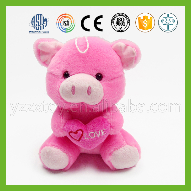 Trendy small high quality pink cute minion soft pig stuffed toy