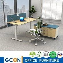 Automatic adjustable height table workstation computer desk set particle board hardware