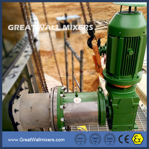 Fixed Angle Gear Driven Custom Design Industrial Mixers Agitator Manufacturers