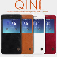 Nillkin Qin Leather Flip Cases for Samsung galaxy Note 5 window case