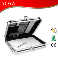 Locking Storage Aluminum Clipboard Hard Black Solid Briefcase Case