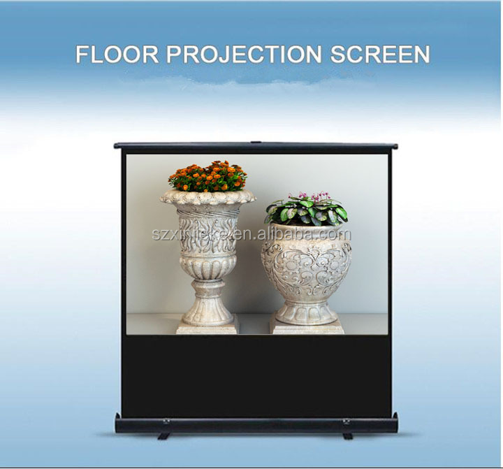 Durable flame retardant flooring stand projection screen vinyl