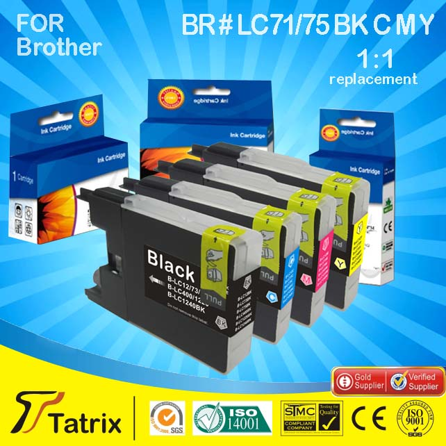Compatible Ink Cartridge for brother LC75 MFC-J6710DW Yellow A