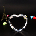 faceted heart shape crystal blank crystal heart block for 3d laser engraving