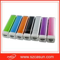 Main product low price hot sale promotional gift lip stick power bank with real capacity