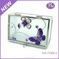 HX-7249 metal velvet animal acrylic jewelry box