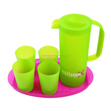 Promotional 1.5L plastic hot water coffee jug set for bar