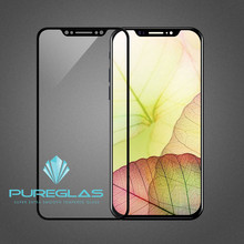 pureglas 9H explosion-proof 3D printing color curved full cover tempered glass screen protector for iphone X high clear