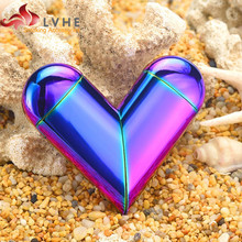 044UB LVHE Popular Heart Shape USB Rechargeable Electronic Cigarette Lighter