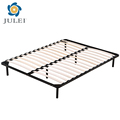 China hot selling wholesale slats metal wooden bed frame
