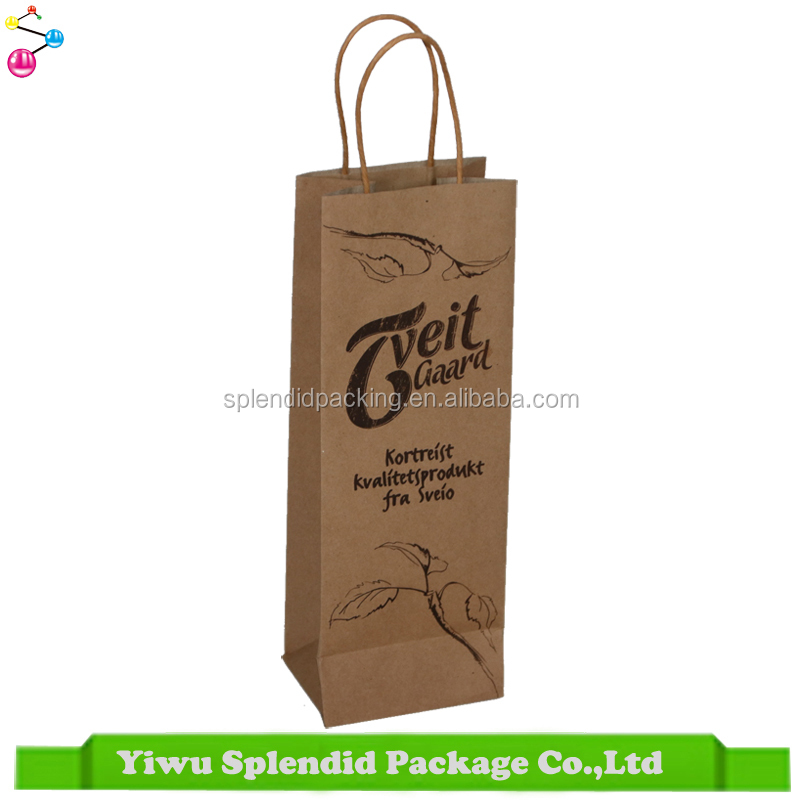 2017 Manufacturer Wine Bag Customized Logo Handmade Paper Bags Designs
