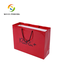 Alibaba china factory custom eco shopping gift cosmetic paper carrier bag with led light