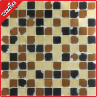 frosting broken glass mosaic tile 25x25mm for sale