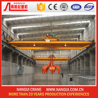 Workshop hight quality grab double girder overhead crane For Sale