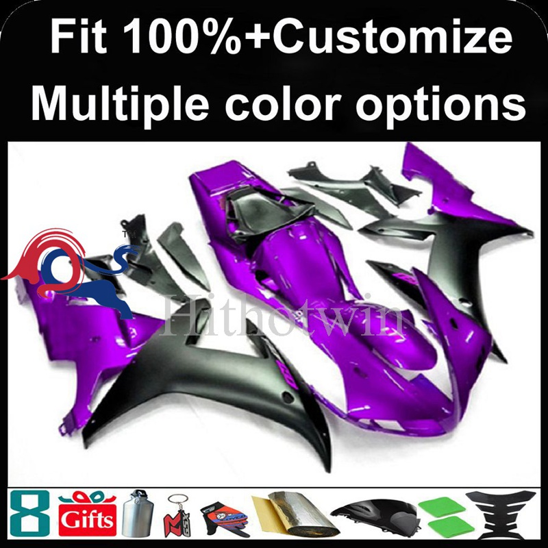 Injection mold purple black Body motorcycle cowl for Yamaha YZF-<strong>R1</strong> 2002-2003 <strong>02</strong> <strong>03</strong> YZFR1 2002 2003 <strong>02</strong>-<strong>03</strong> ABS Plastic Fairing