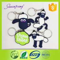 Best selling high quality 3D soft pvc custom keychain