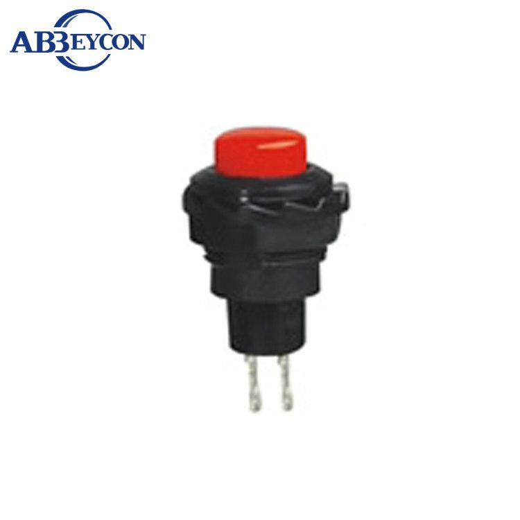 NS122 <strong>R13</strong>-502 12mm Plastic Momentary OFF-(ON) mini push button switch