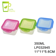 350ml 600ml Square Plastic Food Storage Box Outdoor Airtight Sealed Crisper Preservation Box 12 oz Plastic Containers With Lid