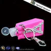 wholesale nice silicon holder antibarcterial, 30ml hand sanitizer plastic bottle with silicon case