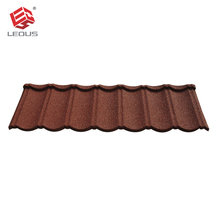 Stone coated color steel metal roof tile