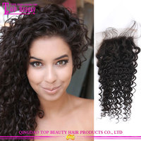 100% cheap virgin brazilian human hair lace closure unprocessed 6a free parting lace closure for black women