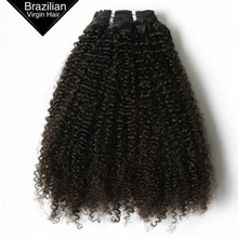 VV African Bundles Remy Virgin Natural Black 100% Brazilian Human Hair Afro Kinky Curly