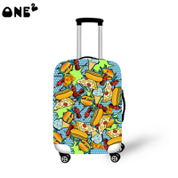ONE2 design America colorful Hamburg travel luggage cover