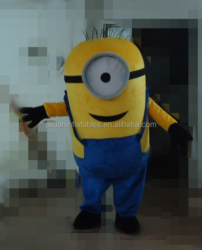 hot sale despicable me minion mascot costume for adult