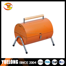 YL1017B# Commercial charcoal bbq stoves, double barrel charcoal barbeuce grill with good offer