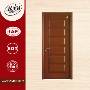 wood glass door design