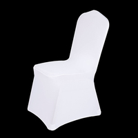 factory direct sale universal white wedding chair decoration spandex chair cover