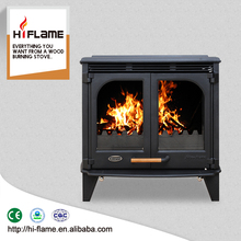 Best selling in United States MUSTANG HF577D Extra Large Double Glass Doors Cast Iron Wood Stove and Fireplace