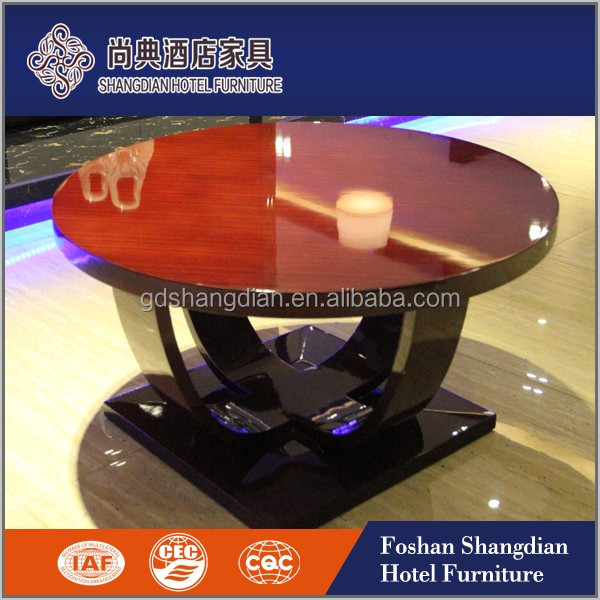 New modern living room furniture wooden center table designs