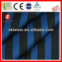 various breathable wicking blue and black stripe fabric