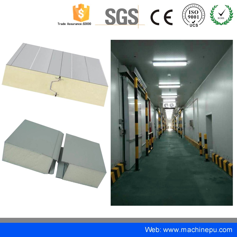 Low price used manufacturer discontinuous pu sandwich panel for cooling