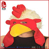 Yangzhou promotion party decoration wholesale plush animal chicken hat with mask