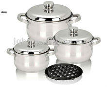 Promotional aluminum wrapped stainless steel cookware pot