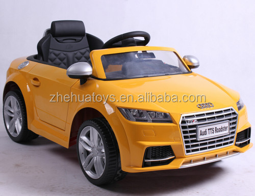 Kids electric ride on car licensed 12v Audi TTS ride on toy car for children