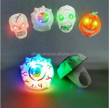 2017 New led toys colorful halloween led glow light ring led light up finger ring for party
