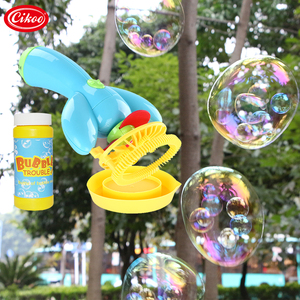 Cikoo Kid Funny Bubble Maker Gun Toys Electric Soap Bubble Blower China Factory Wholesale