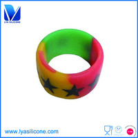 3D soft silicone finger ring silicone wedding ring cheap bulk finger ring