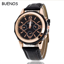 Luxury Casual Personality Fashion Big Three Eyes Dial Leather Bands Ladies Watch