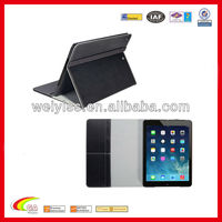 New black leather case for ipad air with name card holder,china manufacturers
