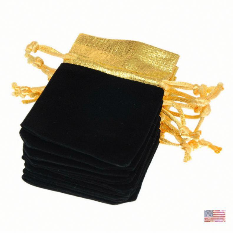 High quality velour drawstring bag velvet gift