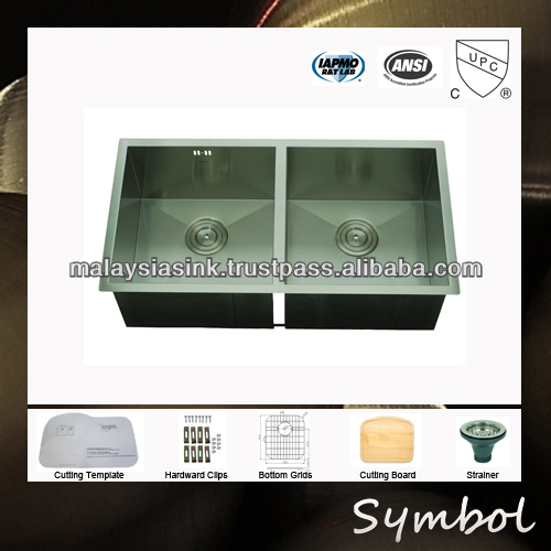 Handmade Farm House Stainless Steel Double Bowl Sink