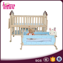 Good Quality Low Price Luxury Wooden Baby Crib/Cot/Wooden Baby Bed With Wheels